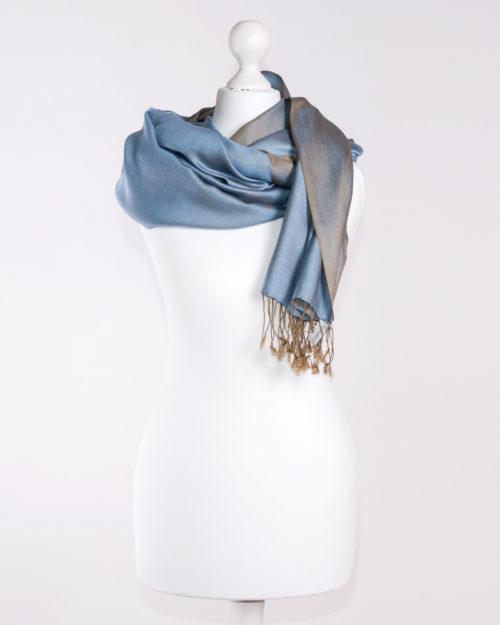 Silk Khaki/Blue