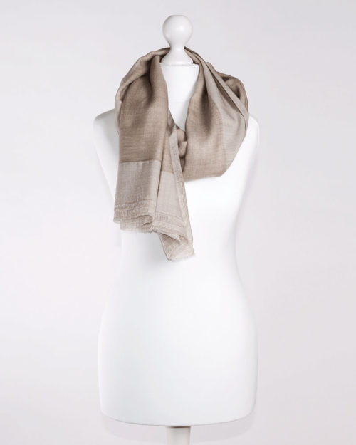 Double Layer Beige/White